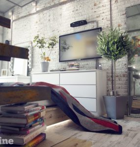 Industrieel loft interieur