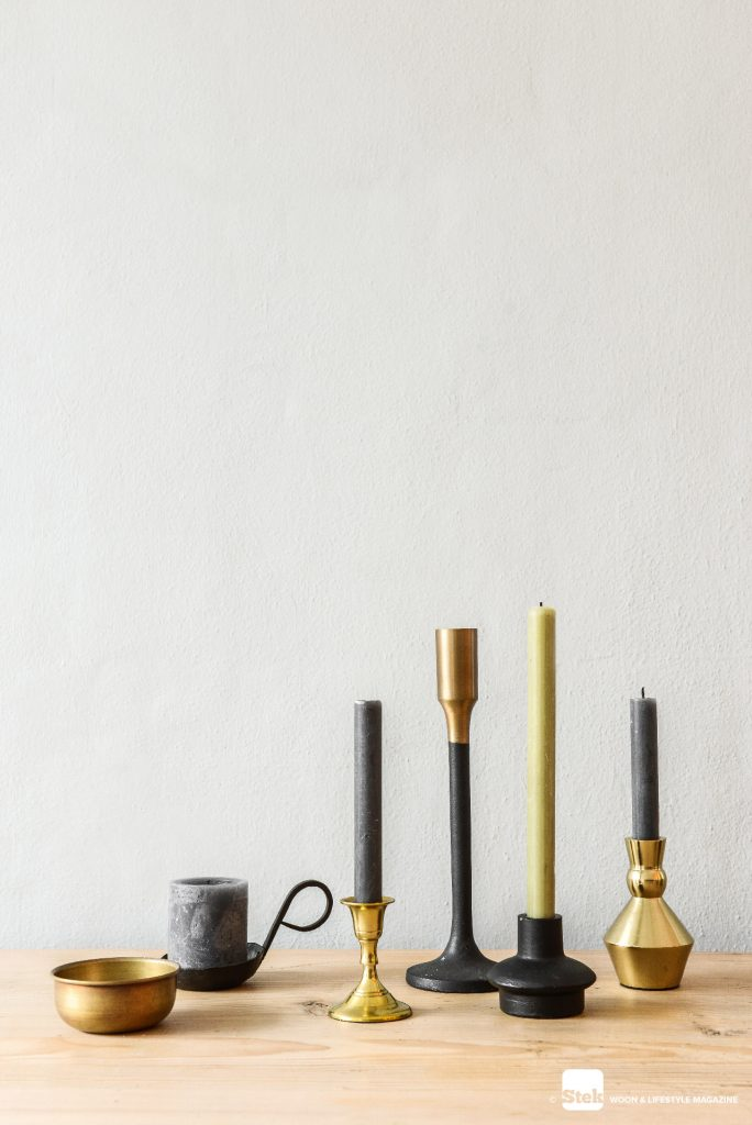 Kandelaar goud zwart - House Doctor - Tom Dixon form Bowl set - Stek Magazine