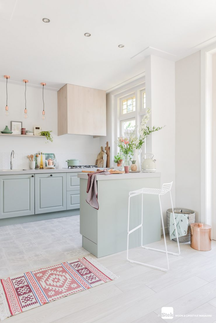 Keuken in mint styling | Stek Magazine
