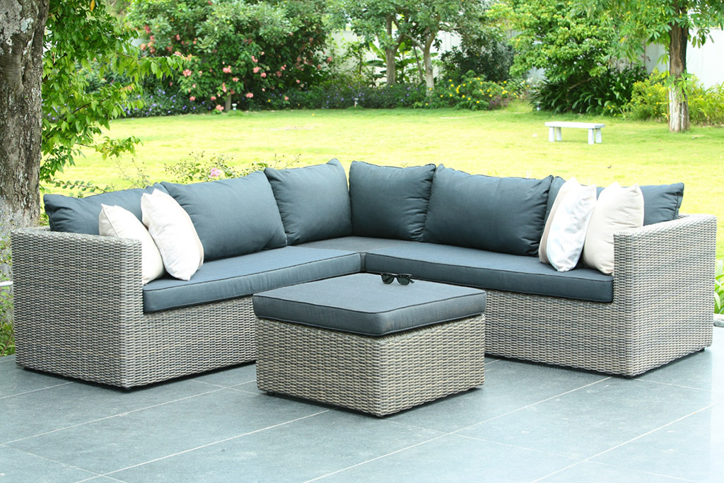 Tuinset lounge riet