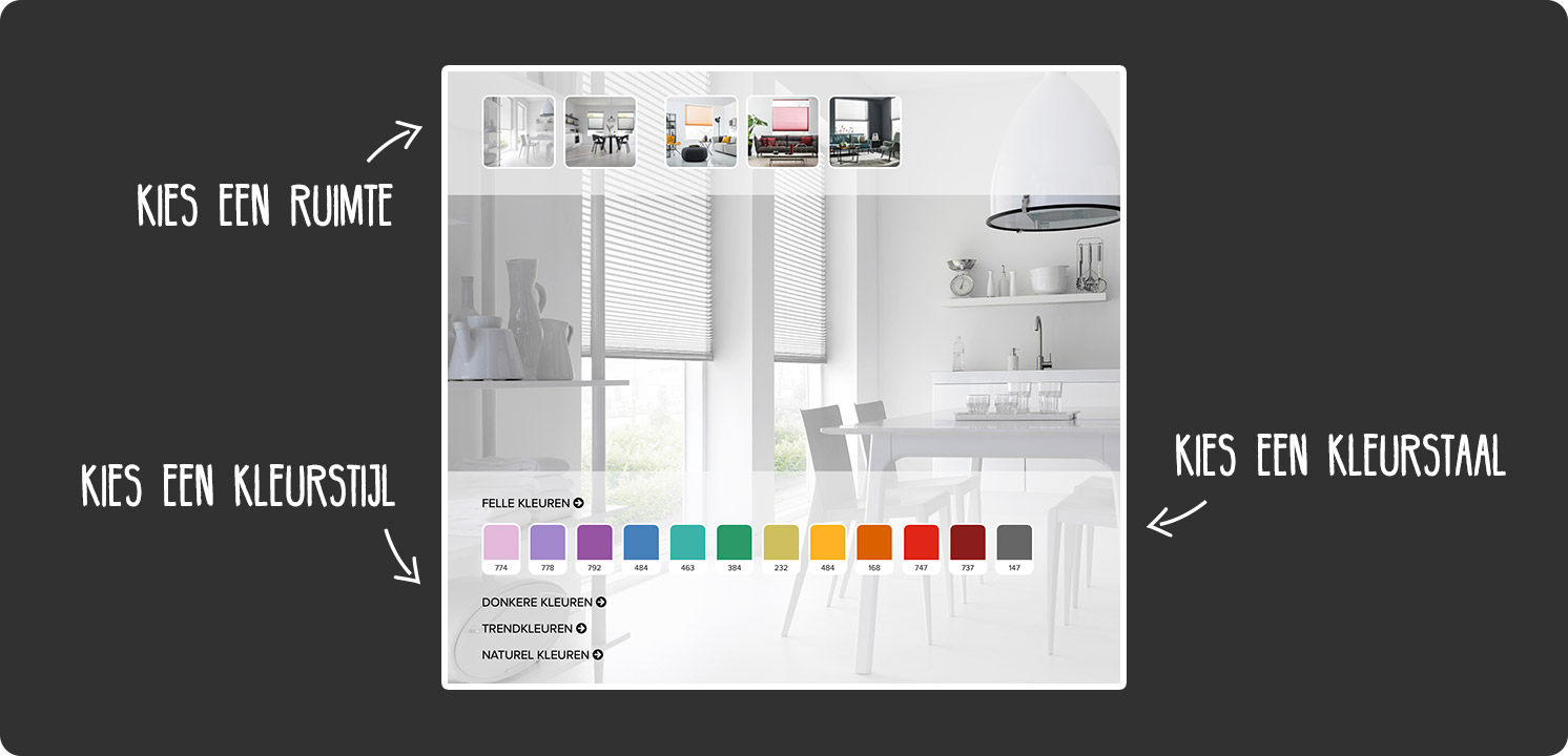 SUNWAY Duette® Color on Demand Shades configurator